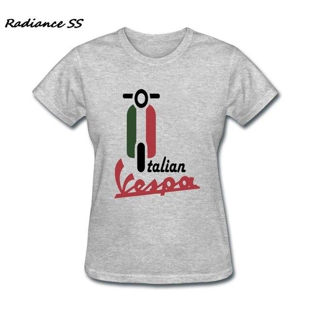 Italiaanse Kleding.Nieuwe Ontwerp Italiaanse Vlag Kleding Custom Made Vespa Vrouwen T
