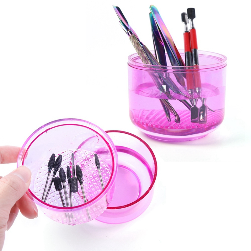 1Pcs Nail/Needle Sterilizer Disinfection Storage Box Nail/ Needle Bits Cleaning Tool Accessories Manicure Clean Nail/Needle To