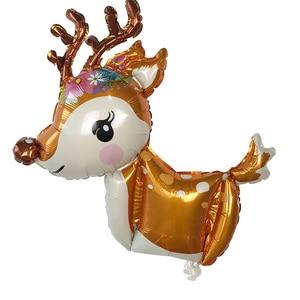 Image 3 - New 3D Dễ Thương Deer Helium bóng bay Lá Phim Hoạt Hình Động Vật Nai Sừng Tấm Bóng Sinh Nhật Bé Tắm Wedding Party Nguồn Cung Cấp Trang Trí