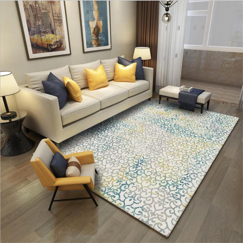 LeRadore flanelle 3D imprimé tapis pour salon salon tapis antidérapant résistance abstraite tapis de sol pour chambre 200*300 cm