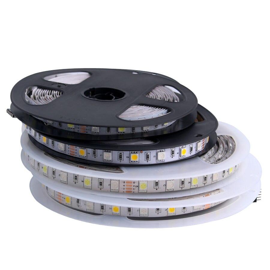 LED Streifen 5050 DC 24V RGB licht 24 v 5 meter wasserdichte flexible led-leuchten für zimmer 60LED/M Band Luces lampe Band tv hintergrundbeleuchtung
