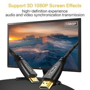 Image 2 - Mini HDMI a Cable HDMI 1080p 3D adaptador de alta velocidad enchufe chapado en oro para cámara monitor proyector notebook TV 1M, 1,5 m,2M,3M,5M