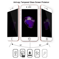 Anti-Spy Privacy Tempered Glass Screen Protector for iPhone 7 Plus / 7 Edge to Edge Full Coverage Screen Film Guard for iPhone 7