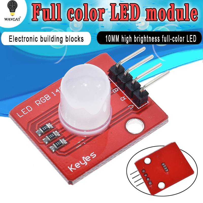 Active Components Gentle Wavgat 10mm Full Color Rgb Led Module140c5 Electronic Building Blocks For Arduinos Diy Starter Kit Making Things Convenient For Customers Electronic Components & Supplies