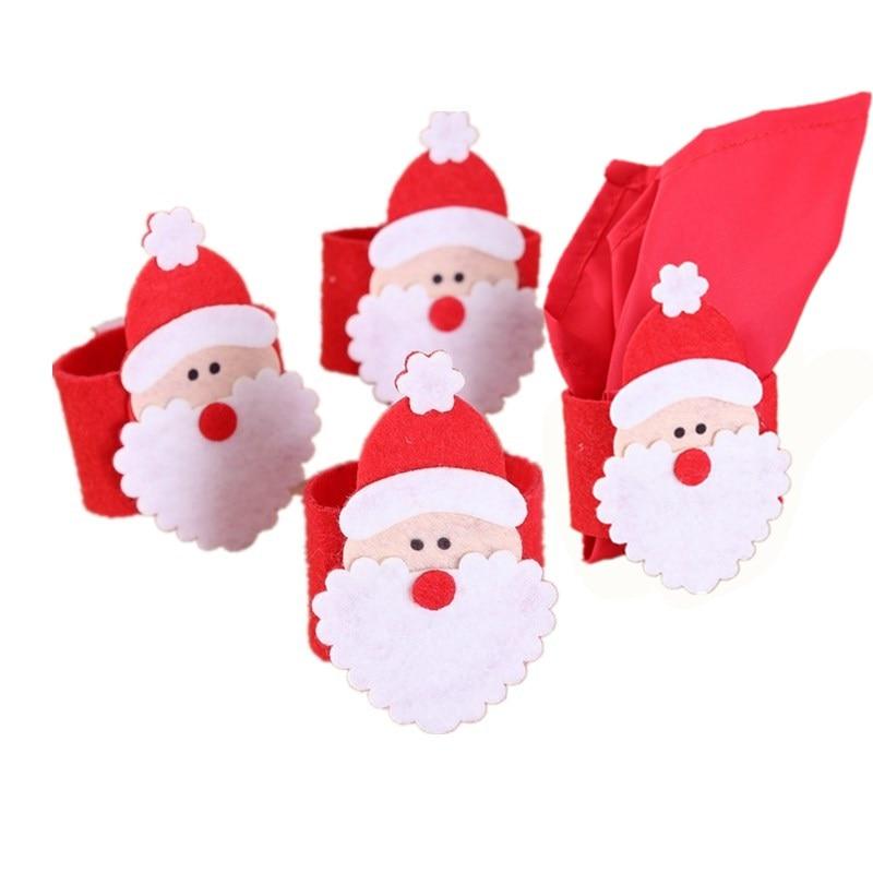 Christmas 4 silver jingle bells Napkin Rings Serviette Holders dinner table new