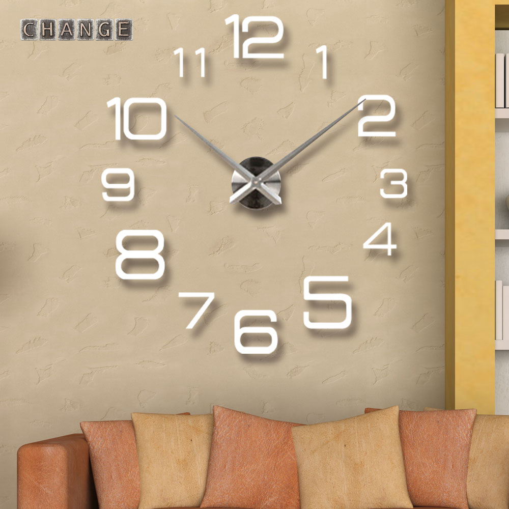 FangZheng 12 Numbers Wall Clocks Big Digital Needle Clock Gift 3D DIY Stickers Watch Metal - Yiwu International Trade Co., LTD store
