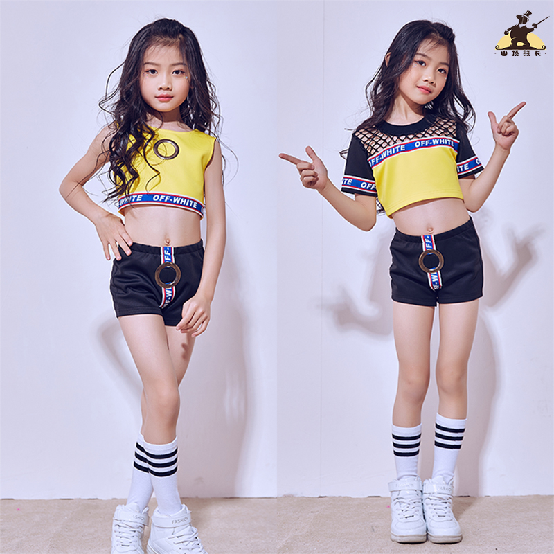 New summer children jazz dance costumes boys and girls hip - hop modern dance clothes children hip hop dance/stage performance
