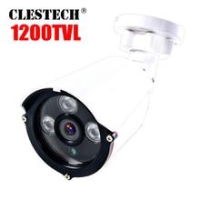 цена на Analog 1200TVL CCTV 960H HD Camera 24h Day/Night Vision Bullet For Surveillance array Infrared home video System Waterproof ip66