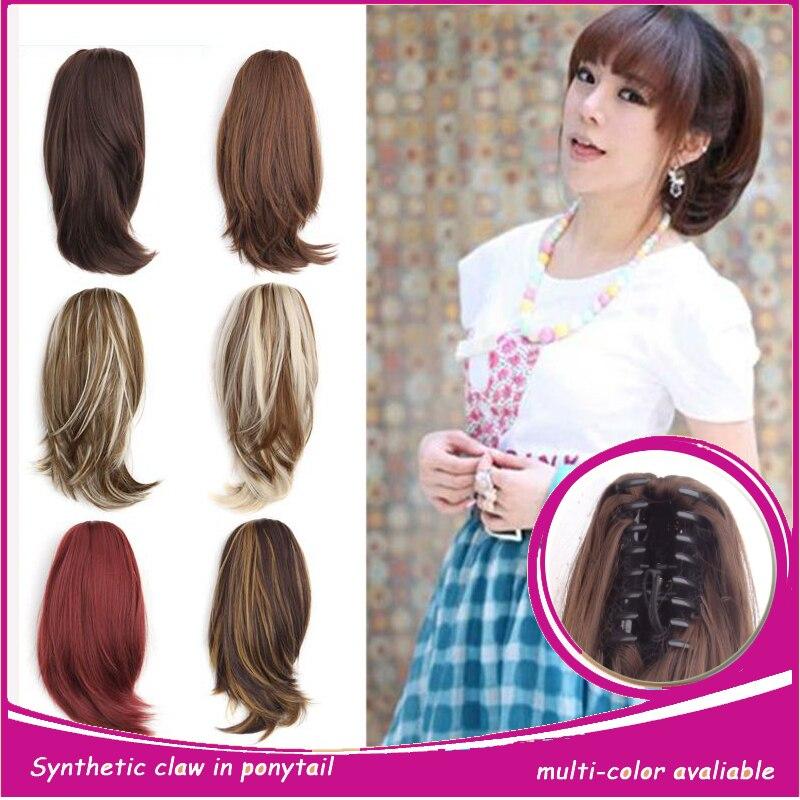Claw Hair Clip Pony 100% Japan Women Synthetic Hair Short