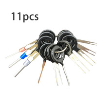 11pcs Car Terminal Removal Tool Kit Harness Wiring Crimp Connector Extractor Puller Release Pin Unlock Tool Picker Car styling