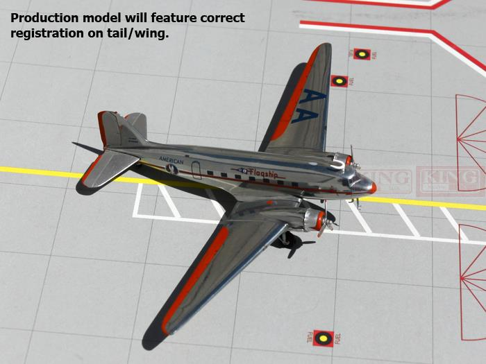 GeminiJets American Airlines NC17334 G2AAL170 1:200 DC-3 commercial jetliners plane model hobby