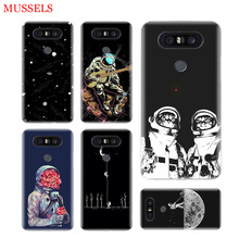 Space Moon Astronaut Phone Cases For LG V40 G6 G7 Q6 Q8 Q7 G5 G4 V30 V20 V10 K8 K10 2018 2017 Covers Coque Shell the wolf fierce phone cases for lg v40 g6 g7 q6 q8 q7 g5 g4 v30 v20 v10 k8 k10 2018 2017 covers coque shell