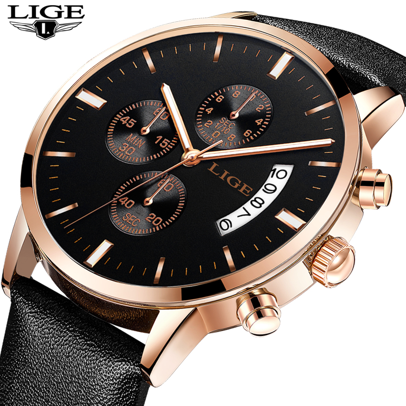 LIGE Mens Watches Top Brand Luxury Male Military Sport Luminous Watch men Business quartz-watch Male Clock Man Relogio Masculino relogio masculino 2017 lige luxury brand men watches military sport quartz watch male waterproof wrist watch man leather clock