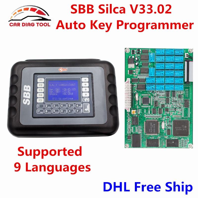 Prix pour DHL Libèrent Le Bateau CFF Silca Programmeur principal V33.02 CFF Antidémarrage Auto clé Pro Maker Silca CFF Pour Les Voitures Multi-marques Pas Besoin jetons