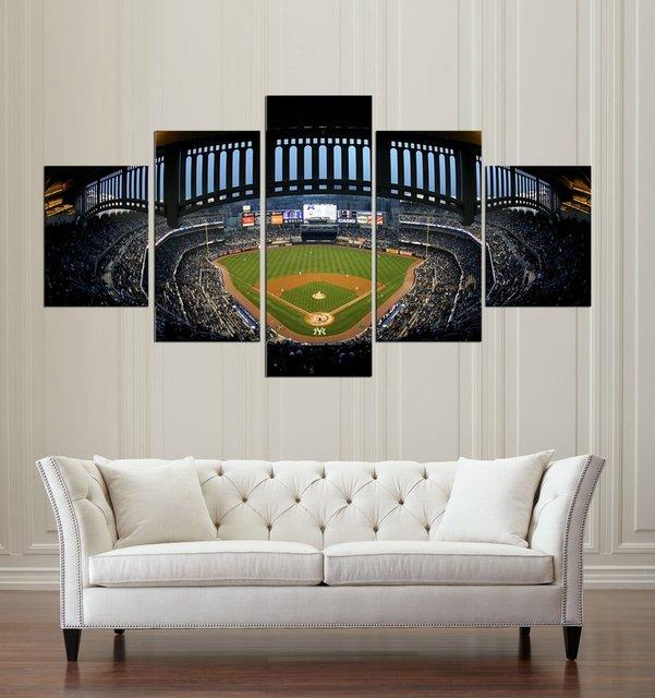 5 unidades modulares pinturas Yankees de Nueva York Yankees estadio ...