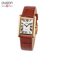 Ousion 2016 New Women Dress Watches  Men Luxury Brand Watch Couple Multi-Color Leather strap