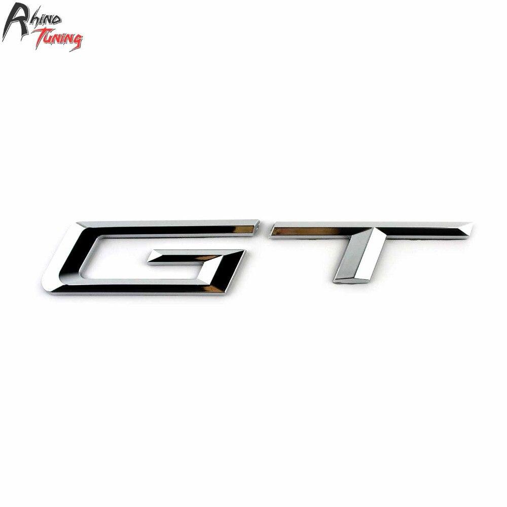 Rhino Tuning GT Silver Car Emblem Auto Styling Sticker ABS Badge For 3 5 Series 535i 550i 535ix 550ix Gran Turismo 681 rhino tuning 5pcs autobiography ultimate edition aluminum sticker badge emblem car auto styling fit defender range 108