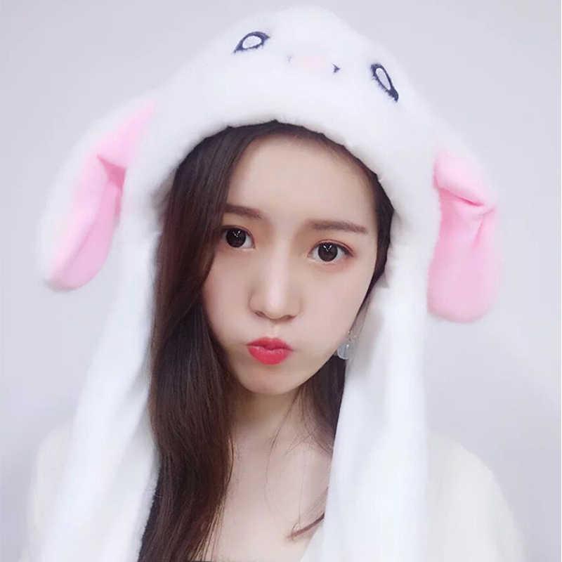 Супер ткань 2019 Лидер продаж плюш кроличьи уши оголовье на забавные вечерние зимние теплые перемещения с заячьими ушками для девочек Для женщин Кепки шляпа подарок