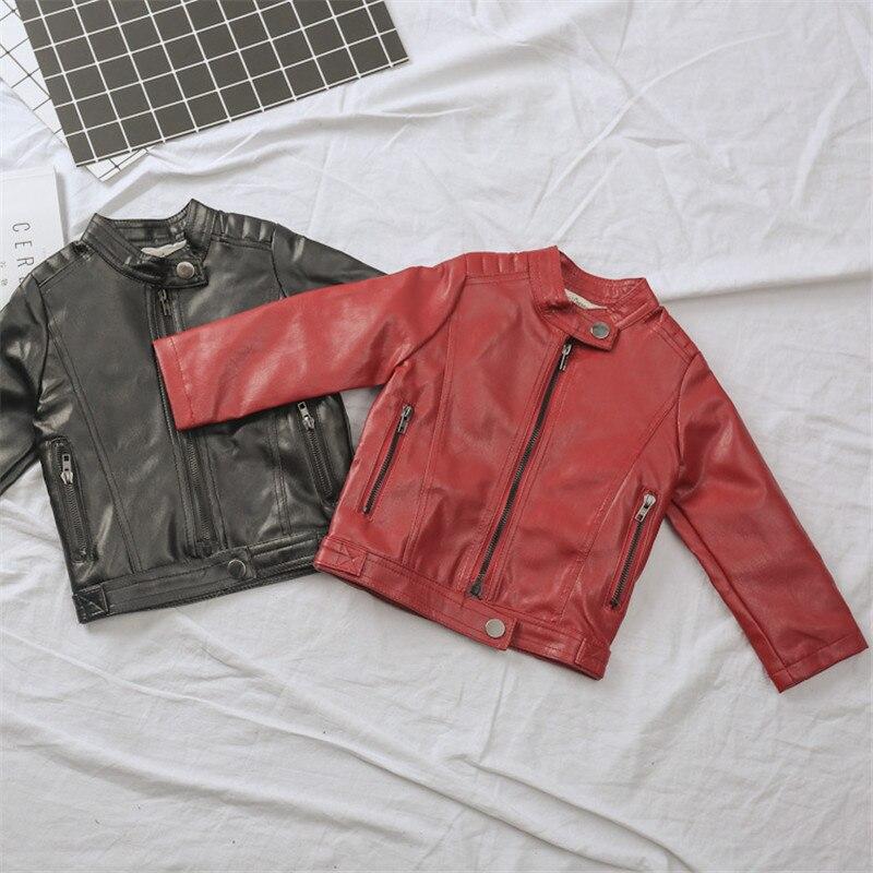 Veste en cuir pour garçons 2018 costume de printemps nouveau 1-2 petit et moyen manteau pour enfants 3 ans fille mode printemps et automne