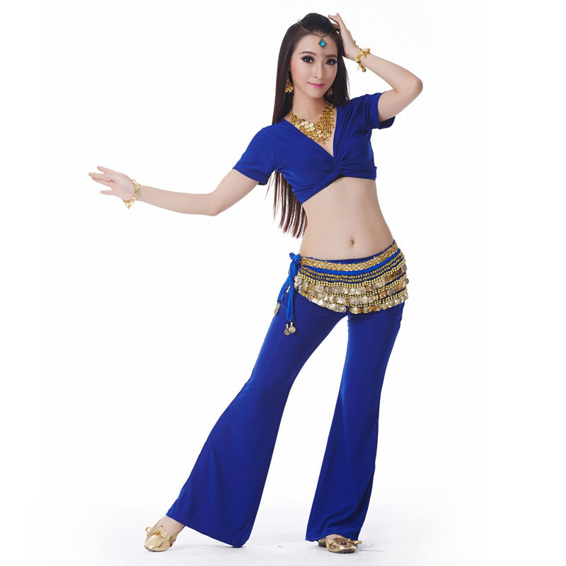 Belly Dance Wear Set Belly Dance Costume Top Pant For Women Sexy Belly Dance Outfits Practice Costume Set Outfits