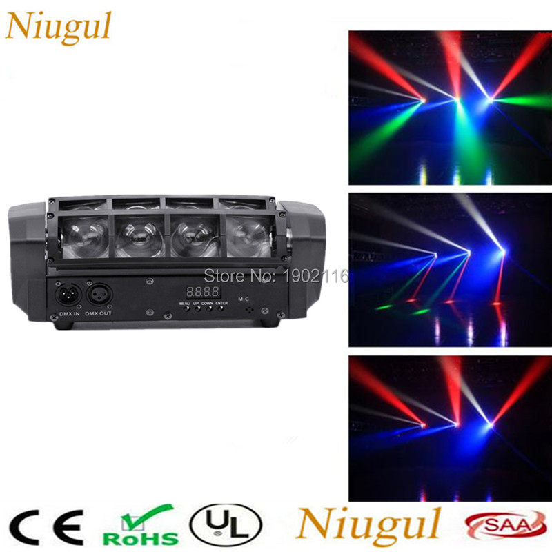 Best quality 8X10W Mini Led Spider Light RGBW LED Beam Light club dj disco lighting DMX512 LED Moving Head Lights KTV party lamp 2pcs lot dmx512 rgbw 4in1 mini led moving head light for disco dj club home party and stage effect lights 10w led beam light