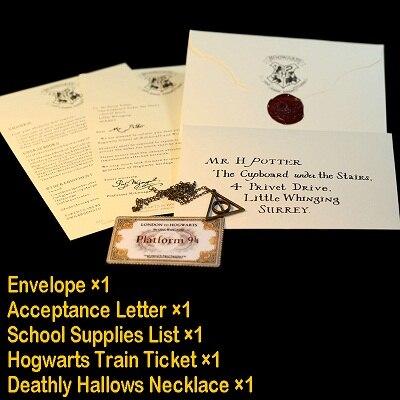 Новинка, популярные гончарные карты мародера, волшебник, школьные билеты, Студенческая коллекция, подарки, вечерние болельщики - Цвет: Letter with Ticket