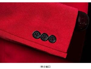 Image 5 - PYJTRL mantón rojo para hombre traje con un solo botón, chaqueta, chaqueta informal de negocios, corte ajustado