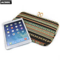 Striped Canvas Soft Liner Laptop Sleeve Bag 14 Notebook Cover For Macbook Pro 15 Case For