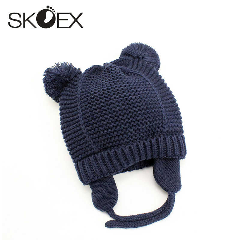 c9dd555369b Winter Baby Hat Baby Winter Cap Cute Toddler Kids Girl Boy Baby Warm  Crochet Knit Hat