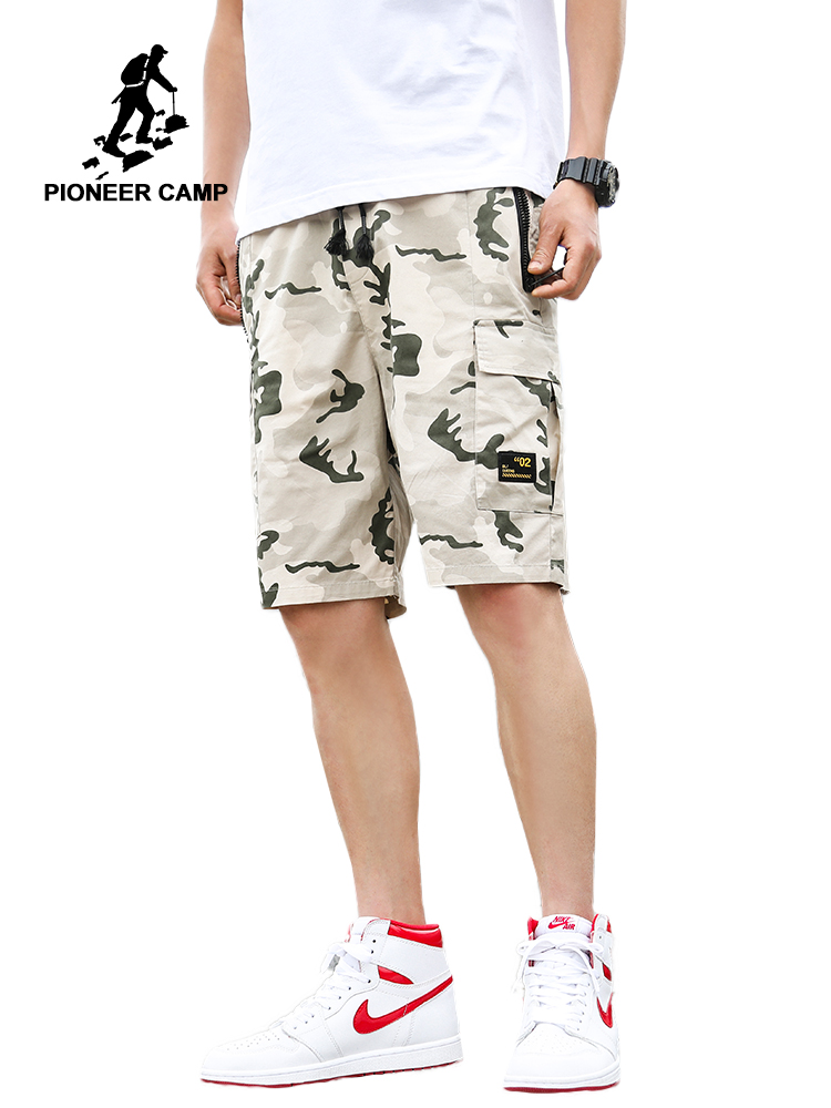 Pioneer Camp Camo Military Shorts Men Bermuda 2019 Summer Camouflage Cargo Shorts Male Cotton Tactical Short Pant ADK908119