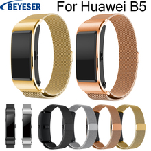 18mm watchband  for Huawei B5 Stainless steel bracelet wrist belt classic Milanese loop replacement band