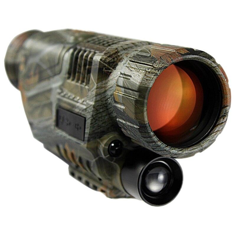 2017 HD Potente Arma Vista di Notte-Visione Monoculare di Caccia Tattico di Visione Notturna A Raggi Infrarossi del Telescopio Militare Digitale Monoculare