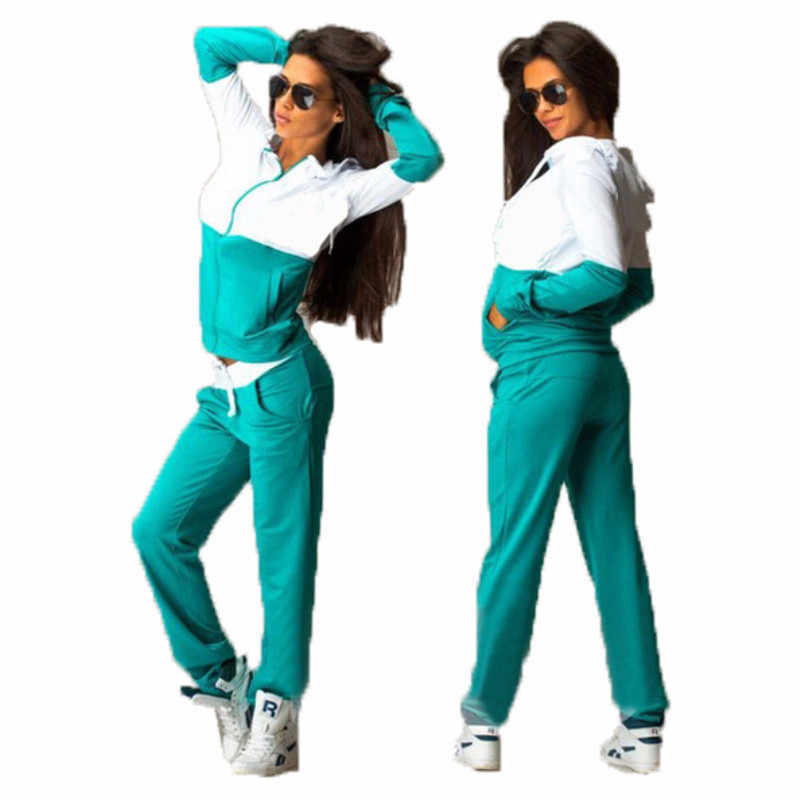 f00cddeb Detail Feedback Questions about Sports Wear for Women Gym Jogging Suit Set  Sexy Sweatsuit Female Tracksuit Spring Winter Sports Suit Women Workout  Daily Set ...