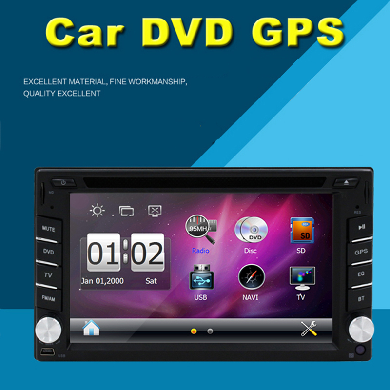 Universal Double 2-DIN Car radio DVD Player GPS Navigation Car Stereo Autoradio Bluetooth in Dash Car Headunit Free Map card