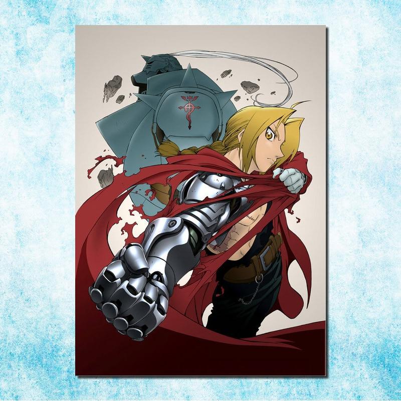 Fullmetal Alchemist Anime Fabric Art Silk Poster 13x20 32x48 inch