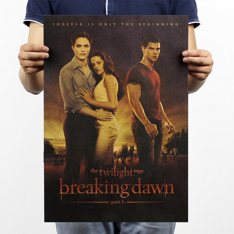 Free shipping,The twilight saga4/Kristen Stewart classic movie/kraft paper/bar poster/Retro Poster/decorative painting 51x35.5cm ...