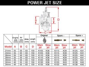 Image 3 - ZSDTRP Universal 21 24 26 28 30 32 33 34 35 36 38 40 42mm PWK carburatore carburatore moto per Keihin Koso ATV Power Jet
