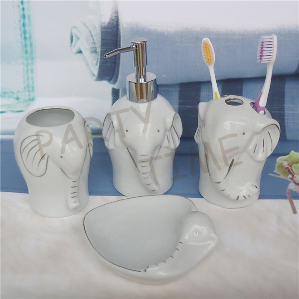 Ceramic Elephant Shape Bathroom Decoration Lotion Soap
