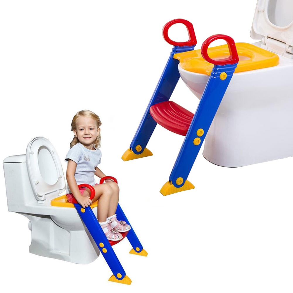 Foldable Baby Potty Training Chair With Adjustable Ladder Children's Potty Baby Toilet Seat Infant Toilet Training For Newborns
