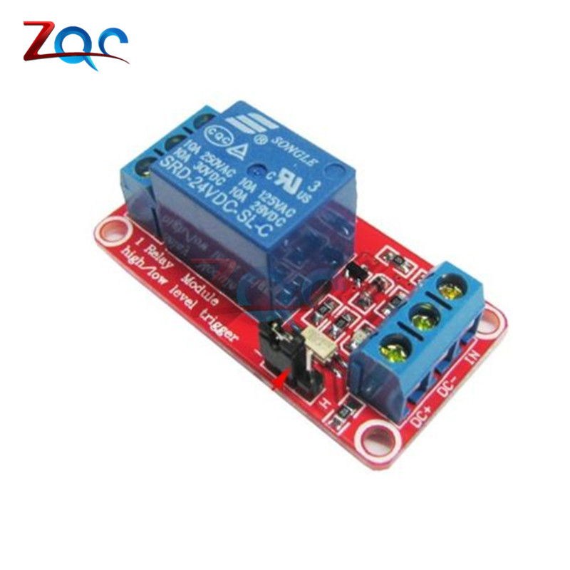 One 1 Channel 24V Relay Module Board Shield With Optocoupler Isolation High/Low Level Trigger Power Supply Module For Arduino 5v 2 channel ir relay shield expansion board module for arduino with infrared remote controller