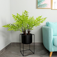 2019 Artificial Plants Fern Leaf Green Plant Artificial Trees for Home Decor Tropical Palm Trees Garden Decoration Fake Plant