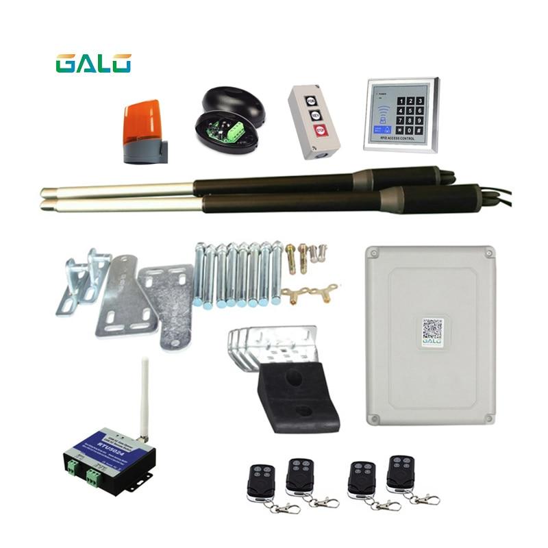 GALO 200kgs AC220V Do Sistema Automático da porta Do Motor Motor/AC110V swing gate driver atuador terno perfeito abridor de portas Abridor de portão GSM