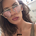 Celebrity Cat Eye Mirror Sunglasses Classic Round Super star Rihanna Women Men Italy UV400 Sun Glasses Brand Design Female Male