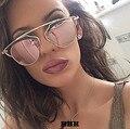 Ojo de Gato gafas de Sol de Espejo Redondo Clásico Super star Celebrity Rihanna Mujeres UV400 Gafas de Sol de Los Hombres Italia Marca Diseño Mujer Hombre