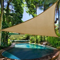Sun Shade Sail Protection Canopy Garden Patio Pool Shade Sail Camping Picnic Tent Awning W/1800D Outdoor Wind Rope