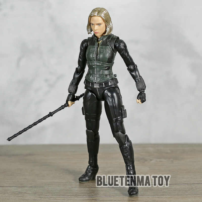 Shf Avengers Infinity War Black Widow Scarlett Johansson Pvc Action Figure Collectible Model Toy Doll