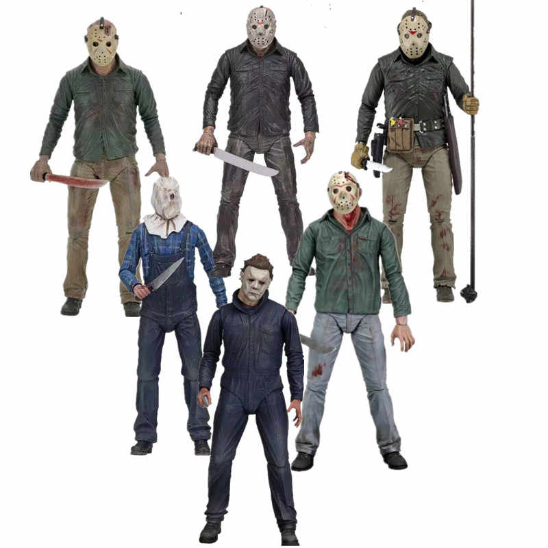 18 cm Friday the 13th Jason Voorhees PVC Action Figure Collectible Model Toy Gift Pop 7 inch