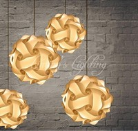 DIY Modern Ball Novelty IQ Jigsaw Lamp Puzzles Pendant Light Power Cord And E27 Holder Dia