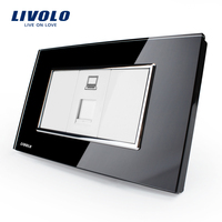 Free Shipping Livolo White Plastic Materials 36mm 23mm US AU Standard Function Key For Computer Socket