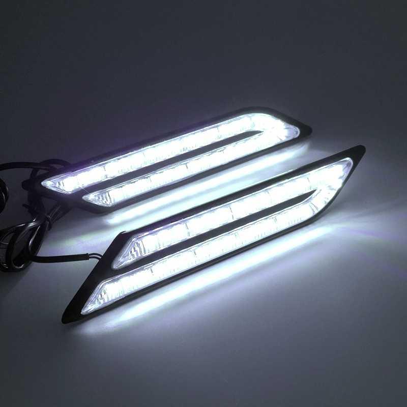 Tak Wai Lee 2X lumière de jour | DRL, voiture, frein de direction, Source de lumière de voiture style voiture, étanche, cristal blanc, bleu